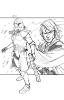 Commanders and Generals: Rex and Anakin WIP by Hodges-Art