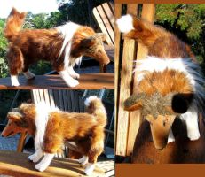 Rough Collie Plush Toy Commission by Jarahamee