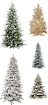 MIsc Frosted Christmas Tree PNGs by dbszabo1