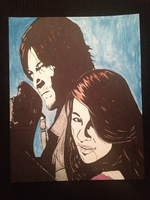 Daryl Dixon and Friend Poster by HigeOkami