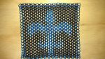 Blue on Black Fleur De Lis Chainmaille Flag by lance-boudreaux