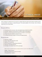 Technical Writer by informer