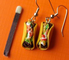 Taco Earrings by MotherMayIjewelry