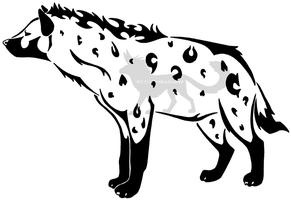 Tribal Hyena by CrazyCrocuta