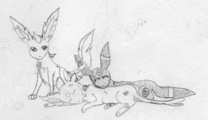 Injured Espeon by FirionRoseII