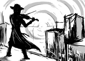 Fiddler On The Roof Doodle by arcanineryu