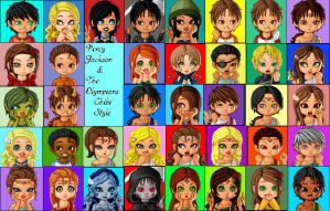Percy Jackson Characters by einstinette