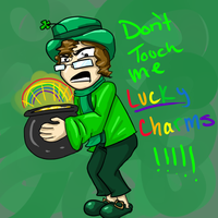 Don't Touch His Lucky Charms by MousieDoodles