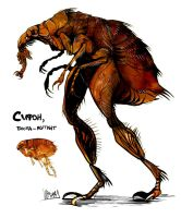 Syphon, the mutant flea by Obman-Veschestv