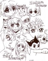 anime collage by Fred-Weasley