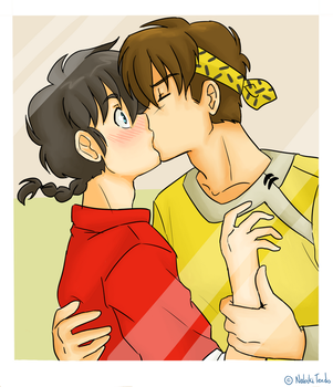 Ranma 1/2 - Ranma and Ryoga - First move by Ranryo82