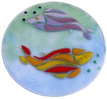 Pisces Round Wall Hanging by EleonoraIlieva