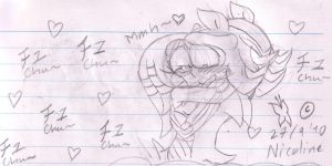 Shadow and Tikal sketch by Nicolathepenguin007