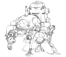 Ghost in the Shell Major w Tac by jasinmartin