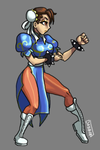 Chun Li  Skullgirls style! by Daeron-Red-Fire