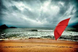Red Umbrella II by sozesoze