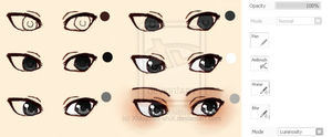 Semi-Realistic eye tutorial 2 by XMajutsu-shiX