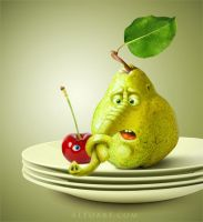 Confused fruits. Tutorial. by AlexandraF