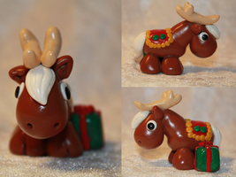 Christmas Reindeer (Brown) for SALE by AnimalisCreations