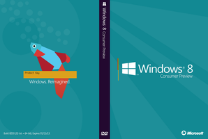 Windows 8 Consumer Preview DVD Case by DerfBWH