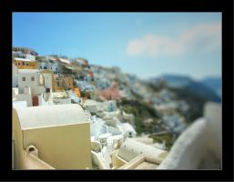 Tilt Shift - Santorini by johnnytourettes