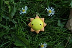 Polymer Clay Charm: Sun by pluto-soup