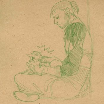 Anders and Ser Pounce Alot by DeannaEchanique