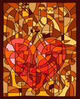 Stained Glass Valentine by Amilee