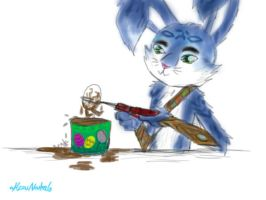 E.Aster Bunnymund Hot Chocolate by HezuNeutral