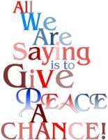 Give Peace a Cance Clustered by ShilloCjbNet