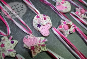 Sugar Cookie Ribbon Chokers by squeekaboo