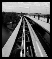 On the Monorail by Chexee