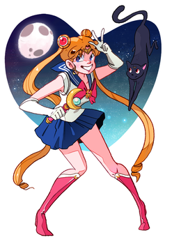 Sailor Moon by CaroWaro