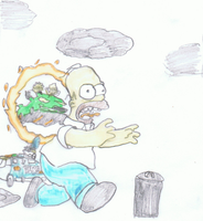 Poor Homer by booboojim