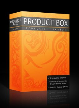 Product Box (template + action) by tei187