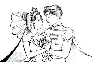 Tiana and Naveen by GissieWizzie