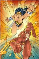 Wonder Woman and Flash by diegoeis
