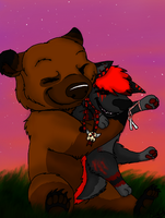 BearHUG for my Brother! x3 by BlueShineLady