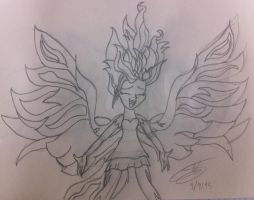 Sunset Shimmer -My past is not Today- - Sketch by LightDragon87