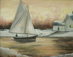 Sailing in Winter by MaineTherapy