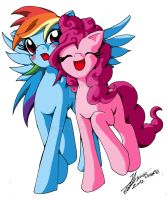Rainbow dash y pinkie pie by TakeshiJl