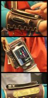 Lucca Cosplay: iPhone Bracer by Mink-the-Satyr