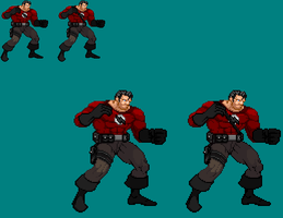 Sprite Work: Doc Valiant (1950's) by SXGodzilla