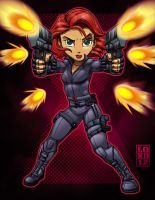 Lil Avengers - Black Widow by lordmesa