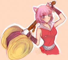 Sonic Gijinka - Amy Rose by acsuu