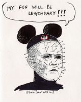 Pinhead Mouseketeer by 197DMG2