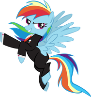 Dashie in a suit by pyrestriker