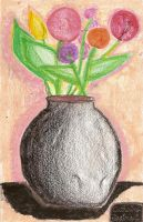 Flower Vase on Pastels by weut