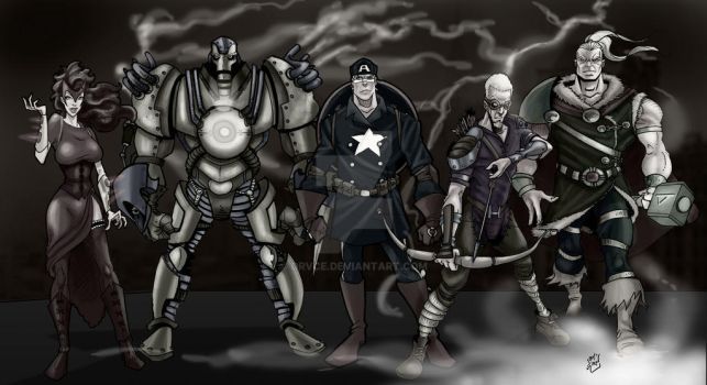 Steam Punk Avengers by drvce