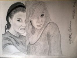 A Pencil Sketch of two Girls by AmmarQaseem